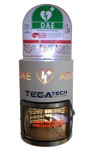 TecaTech PM di Italia Defibrillatori- Termoregolata con ventilazione a camino Anti-condensazione - Anti-vandalismo